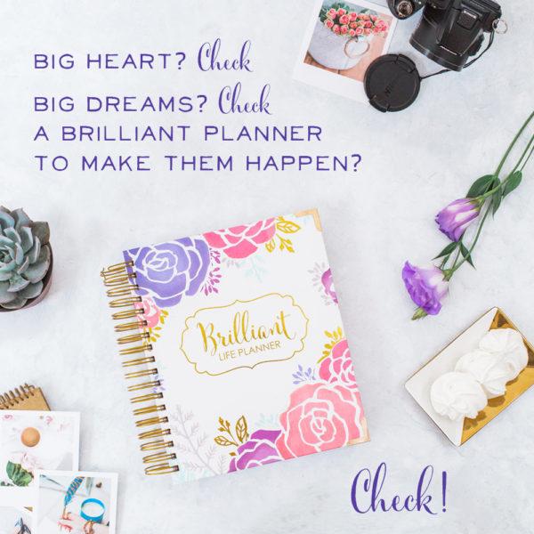 Brilliant Life Planner Big Heart graphic
