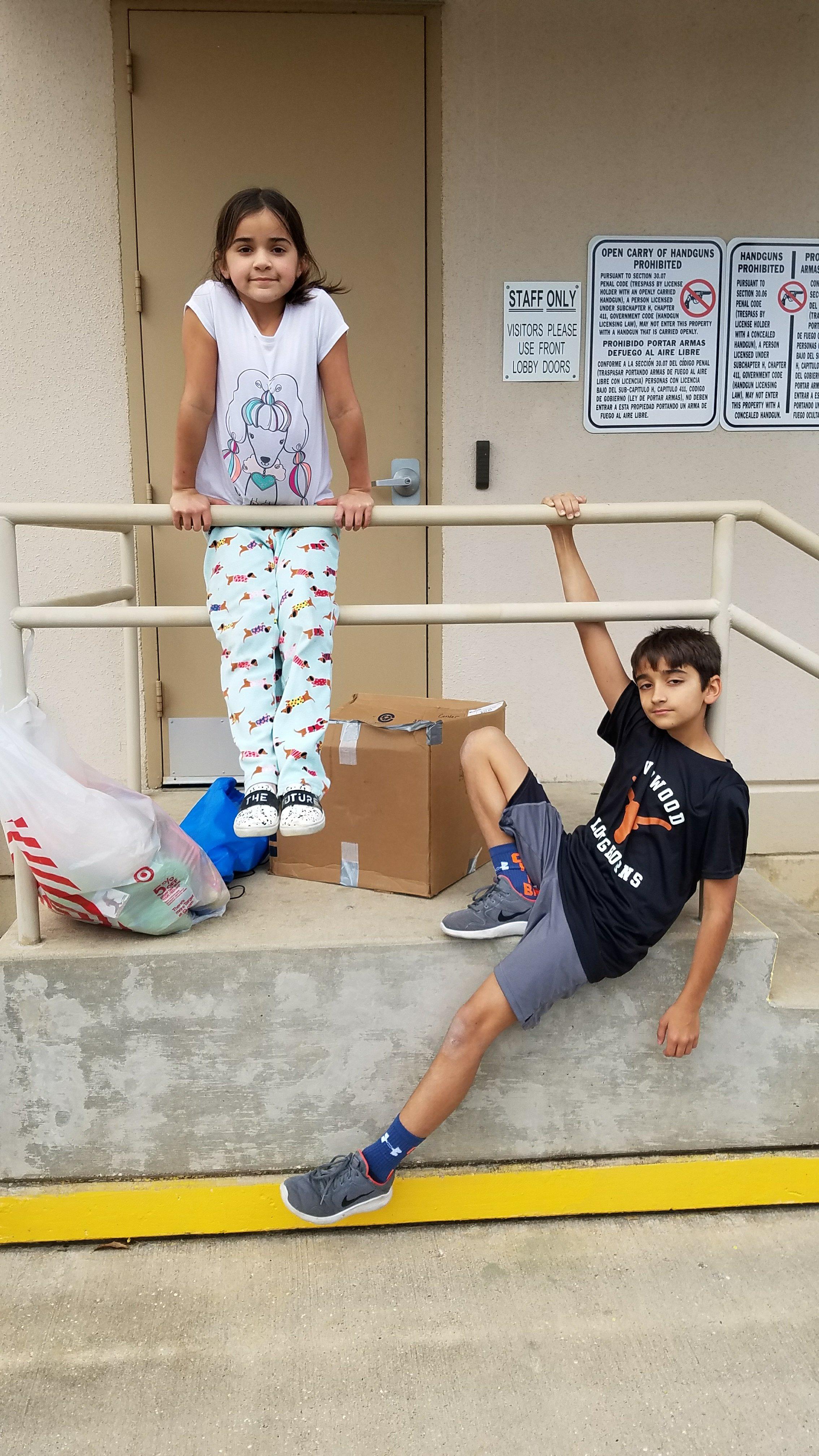 Coppelias kids help send boxes to Puerto Rico