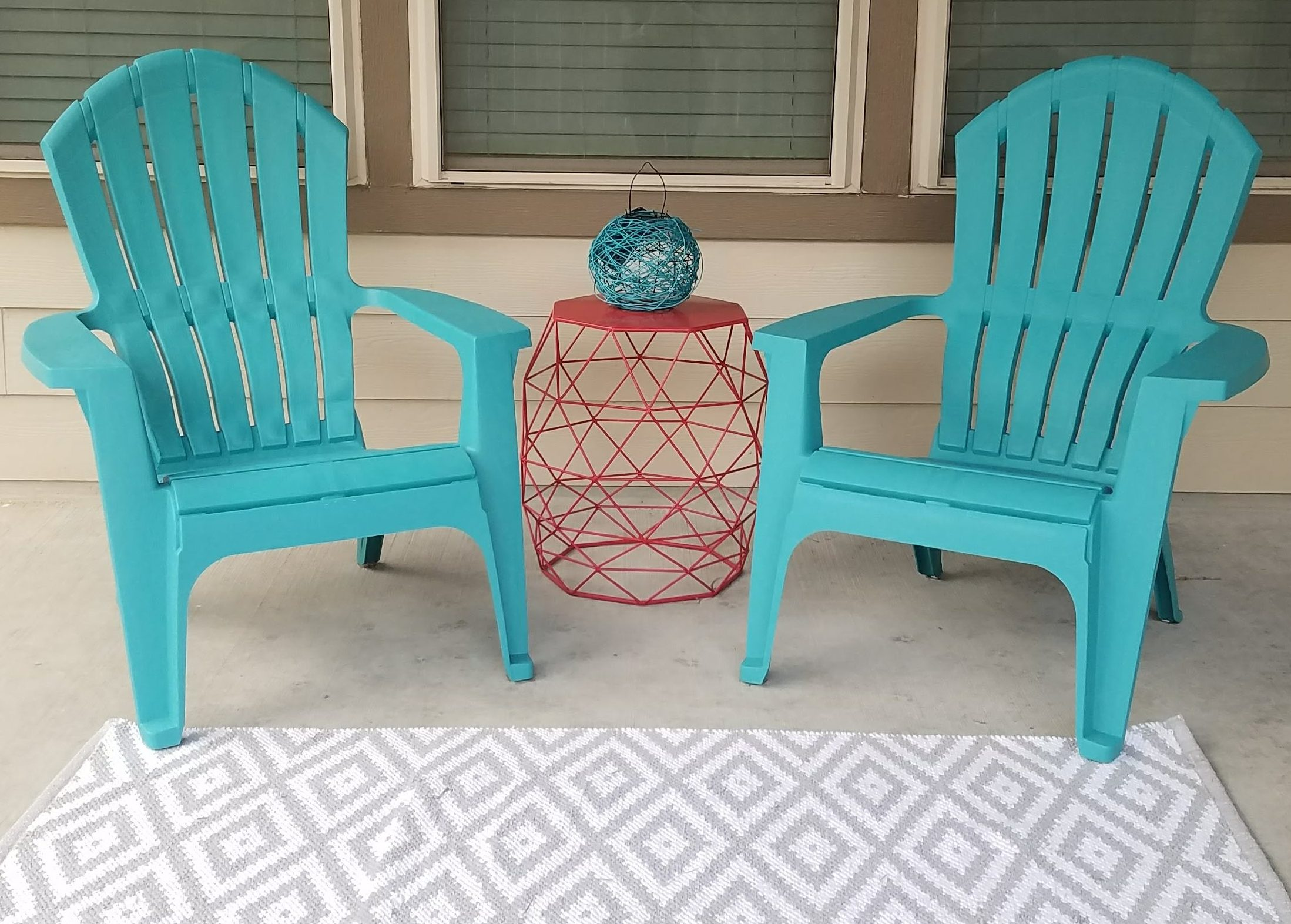 Cute and Colorful Patio Under 100 Dollars!