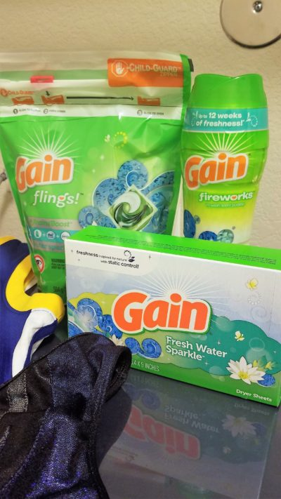 Gain flings, scent booster beads and dryer sheets