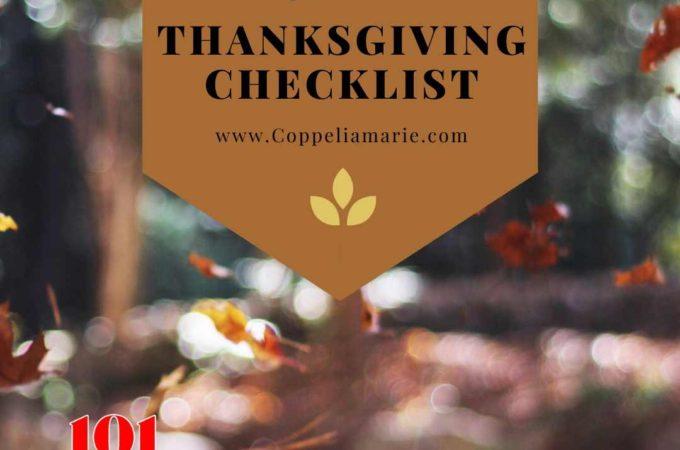 101 Days till Christmas Day 48 3 Weeks till Thanksgiving Checklist