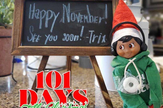 101 Days till Christmas Day 49 Elf on the Shelf